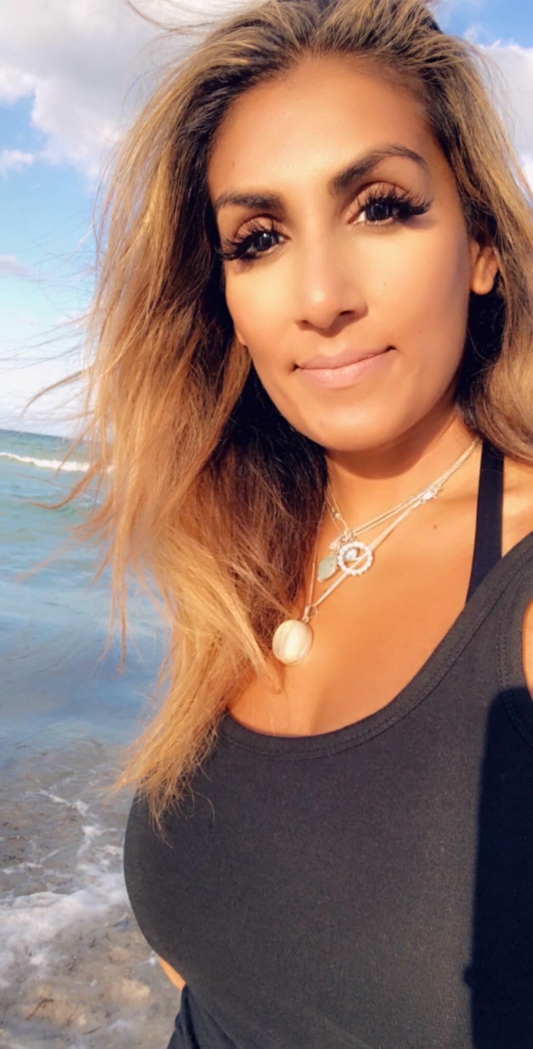 Woman Miami Beach Peace